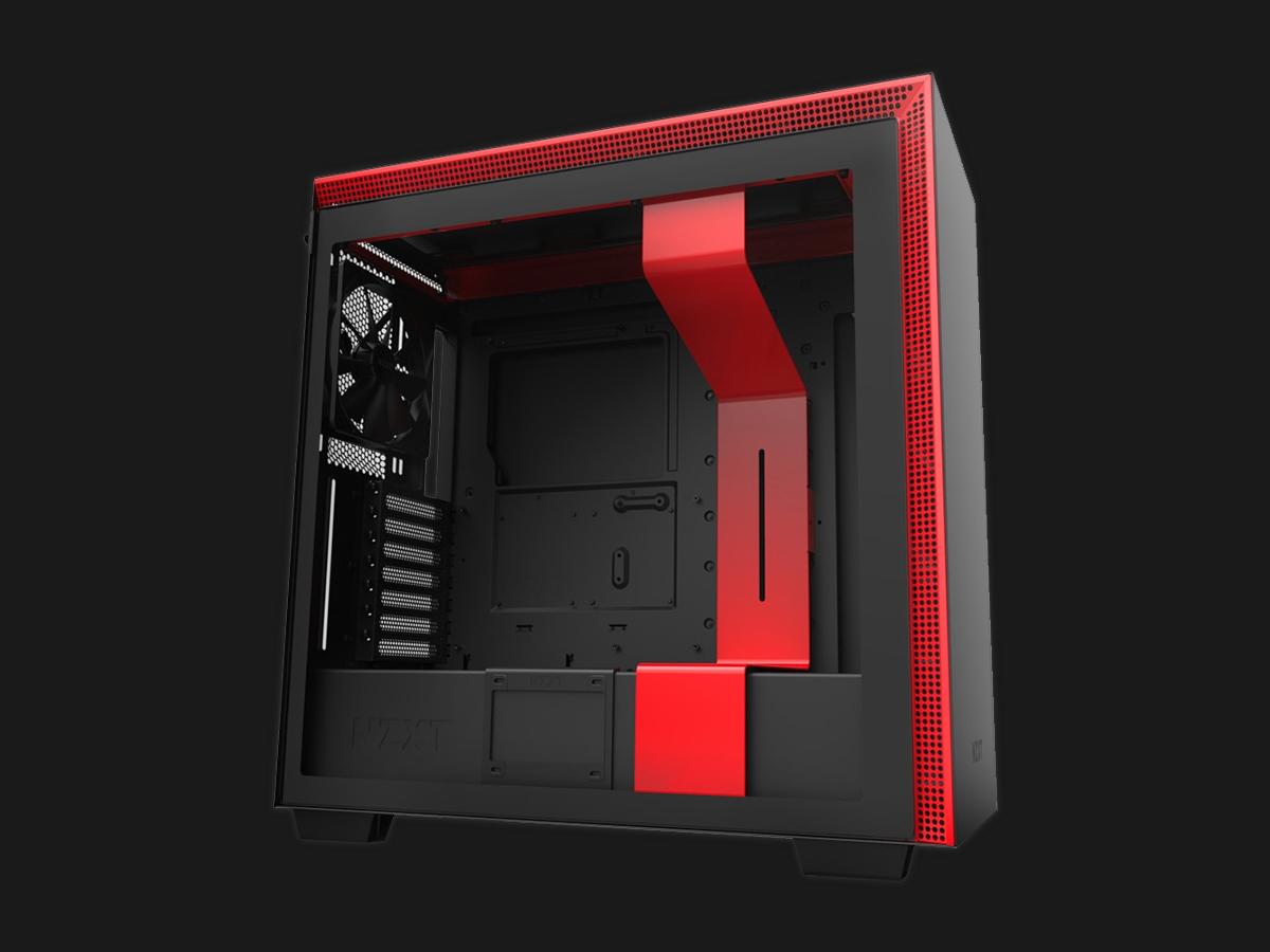 NZXT H series H710 rød